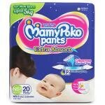 MamyPoko Extra Absorb New Born-1 Pants 18 count (Up to 5 kg)