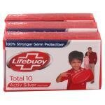 Lifebuoy Total 10 Soap with Activ Naturol Shield 100 g (Pack of 3)