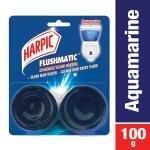 Harpic Flushmatic Aquamarine In-Cistern Toilet Cleaner 50 g (Pack of 2)
