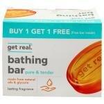 Get Real Pure & Tender Glycerine Bar 125 g (Buy 1 Get 1 Free)