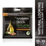 Garnier Black Naturals Ammonia Free Hair Colour, Original Black (2) (20 g + 20 ml)