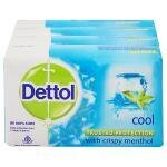 Dettol Cool Soap with Crispy Menthol 75 g (Pack of 4)