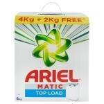 Ariel Matic Top Load Detergent Powder 4 kg (Get Extra 2 kg Free)
