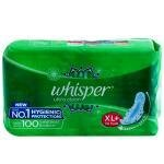 Whisper Ultra Clean Sanitary Napkin with Wings (XL+) 30 pads