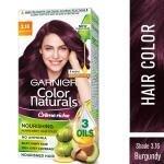 Garnier Color Naturals Creme Riche Ammonia Free Hair Color, Burgundy (3.16) 70 ml + 60 g