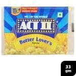 Act II Butter Lover's Microwave Popcorn 33 g