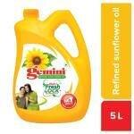Gemini Refined Sunflower Oil 5 L