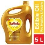 Saffola Gold Pro Healthy Lifestyle Rice Bran Based Blended Oil 5 L