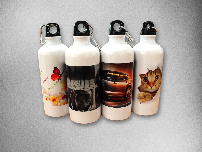 Печать на алюминиевых бутылках для воды