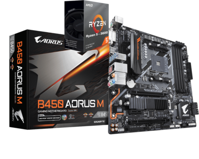 AMD RYZEN 5 3600 6-Core 3.6 GHz (4.2 GHz Max Boost) + AORUS B450M Motherboard Bundle