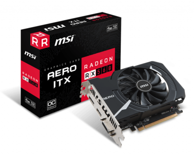 MSI Radeon RX 560 AERO ITX 4GB OC GDDR5 Video Card ( REQUIRES COMPLETE DESKTOP BUILD )