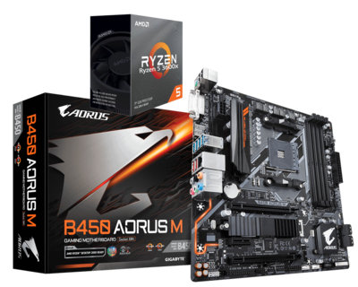 AMD RYZEN 5 3500X 6-Core 3.6 GHz (4.1 GHz Max Boost) + AORUS B450M Motherboard Bundle