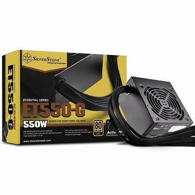 SilverStone Strider Essential 550W 80PLUS® Gold APFC Non-Modular Power Supply