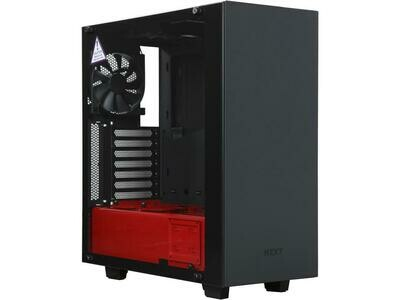 NZXT S340 Elite Matte Black/Red Steel/Tempered Glass ATX Mid Tower Case