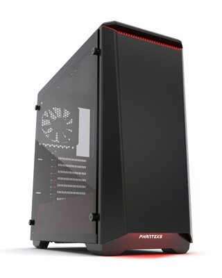 Phanteks ECLIPSE P400 Black/Red Tempered Glass Case