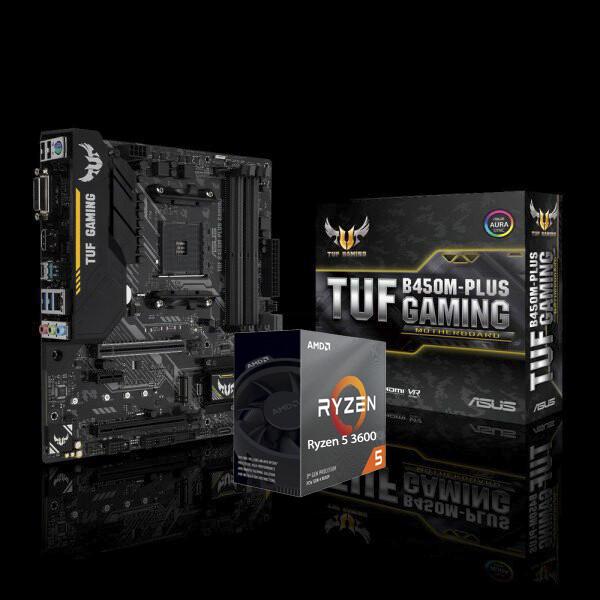 Amd Ryzen 5 3600x 6 Core 3 8 Ghz 4 4 Ghz Max Boost Asus Tuf B450m Plus Gaming Bundle