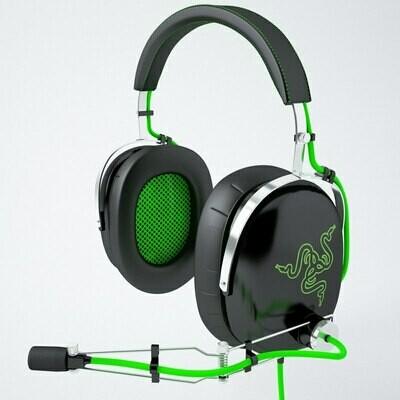 Razer BlackShark Over Ear Noise Isolating PC Gaming Headset - Metal Construction