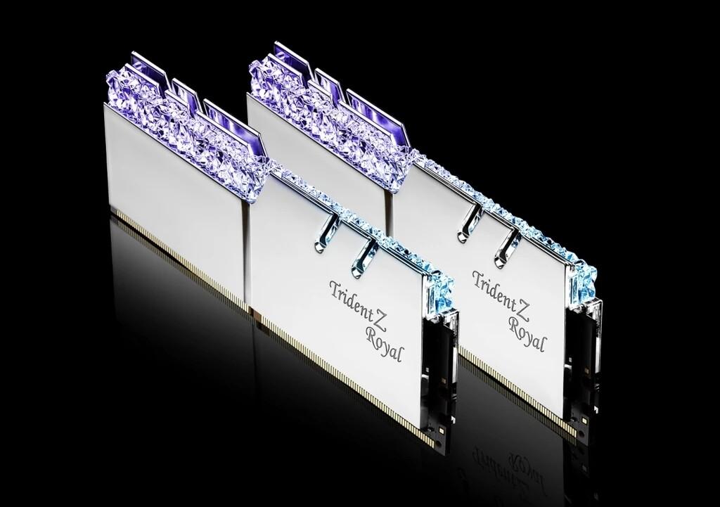 G.Skill Trident Z Royal Silver RGB 16 GB (2 x 8 GB) DDR4-3600 CL18 Memory