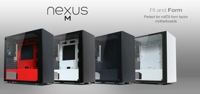 Tecware Nexus M Tempered Glass Case ( Free 3x 120mm Fans )