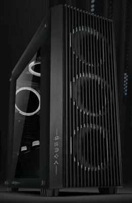 OMEGA TH0R Tempered Glass Gaming Case ( 3 Free Non RGB Fans )