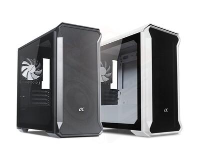 Tecware Alpha M Tempered Glass Case ( Free 3x 120mm Fans )