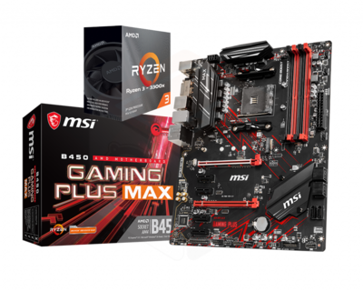 AMD Ryzen 3 3300X Quad-Core 3.8 GHz + MSI B450 Gaming Plus Max Motherboard Bundle