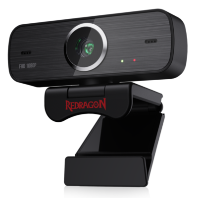 Redragon Hitman GW800 1080P Webcam with Built-in Dual Microphone 360-Degree Rotation