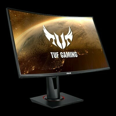 TUF Gaming VG27WQ Curved Gaming Monitor – 27 inch WQHD (2560x1440), 165Hz, Extreme Low Motion Blur™, Adaptive-sync, FreeSync™,1ms (MPRT), DisplayHDR™ 400