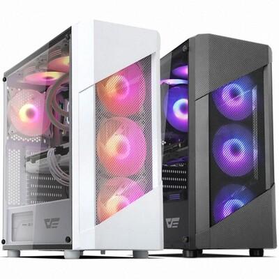 darkFlash Pollux TG Case ( Free 2x RGB 140mm Fans )