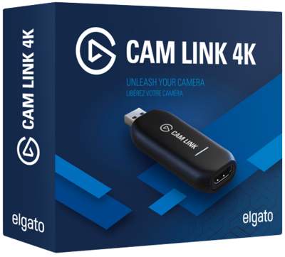 Elgato Cam Link 4K — Broadcast Live, Record via DSLR, Camcorder, or Action Cam, 1080p60 or 4K at 30 Fps, Compact HDMI Capture Device, USB 3.0