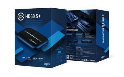 Elgato Game Capture HD60 S+ 1080p60 HDR10 Capture with 4K60 HDR10 Zero-lag passthrough, Ultra-Low Latency Technology