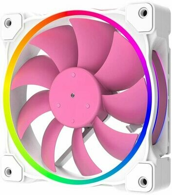 ID COOLING ZF-12025-PINK Case Fan 120mm 5V 3 PIN Addressable RGB Cooling Fan MB Sync, 4 PIN PWM Speed Control Fans for Radiator/CPU Cooler/Computer Case