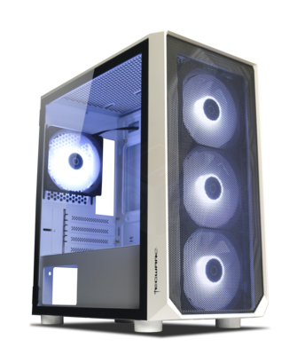 Tecware Forge M ARGB MATX TG Gaming Case ( Free 4x 120mm ARGB Fans )