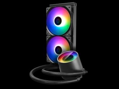 DEEPCOOL Castle 240 RGB V2, All-in-One Liquid CPU Cooler, Addressable RGB Waterblock and Fans, Anti-Leak Tech Inside, 240mm Radiator