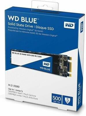 Western Digital Blue 500GB M.2 SN550 NVMe SSD