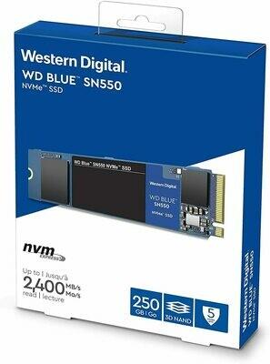 Western Digital Blue 250GB M.2 SN550 NVMe SSD