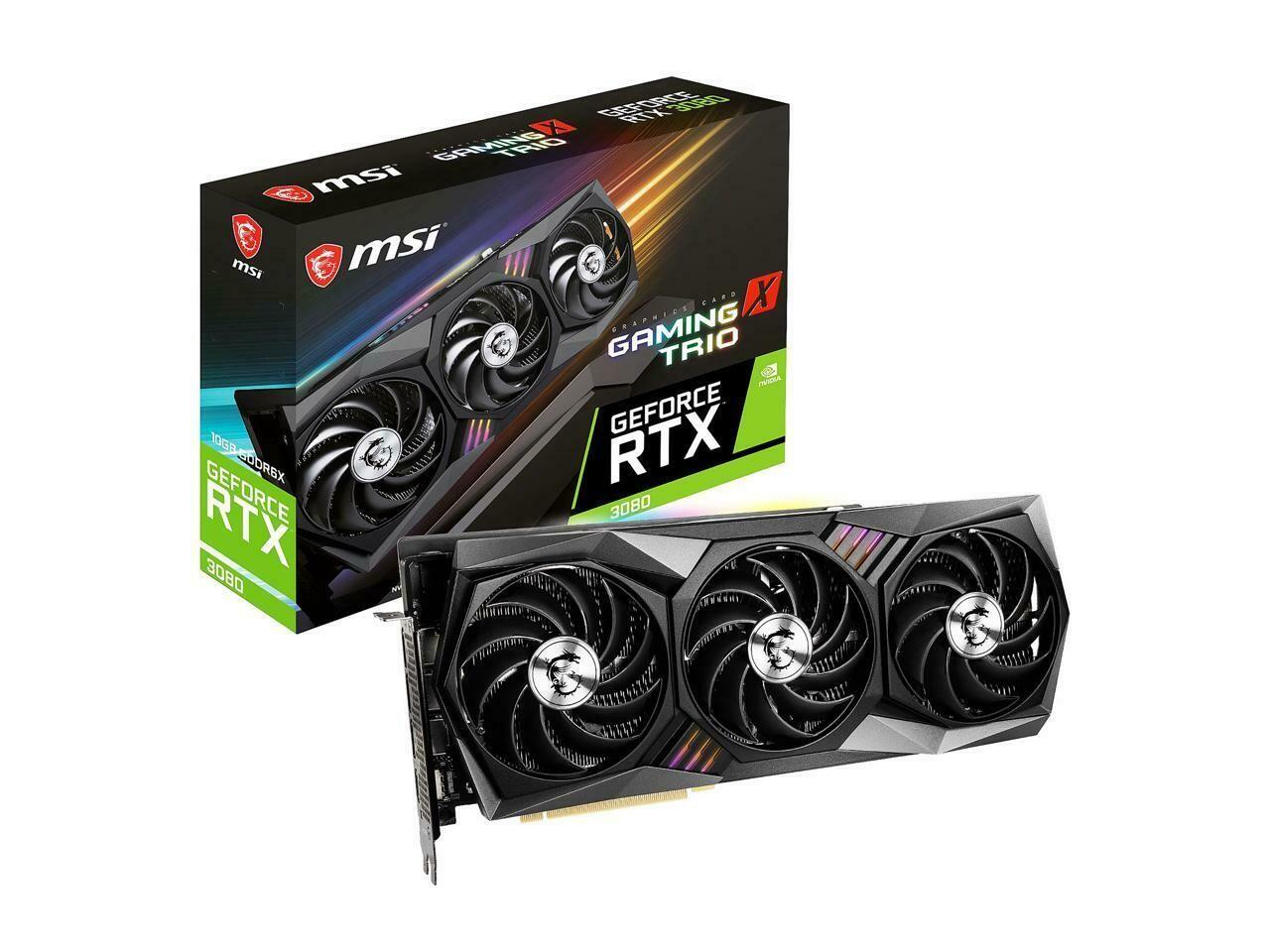 MSI GeForce RTX 3080 GAMING TRIO X 10G 10GB 320-Bit GDDR6X Video Card