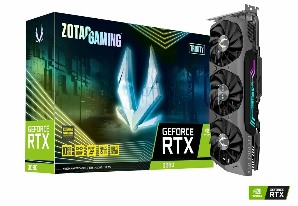 ZOTAC GAMING GeForce RTX 3080 Trinity 10G GDDR6X 320-Bit Video Card
