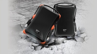 Silicon Power Armor A30 2TB Shockproof Portable External HDD