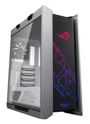 ASUS ROG Strix Helios GX601 White Edition RGB Mid-Tower Computer Case for ATX/EATX Motherboards with Tempered Glass, Aluminum Frame, Aura Sync (3X140MM RGB, 1X140mm)