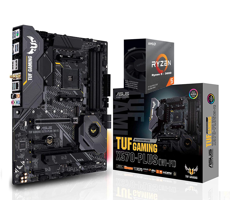 AMD RYZEN 5 3600 6-Core 3.6 GHz (4.2 GHz Max Boost) + Asus TUF Gaming X570-Plus (Wi-Fi) ATX Motherboard Bundle