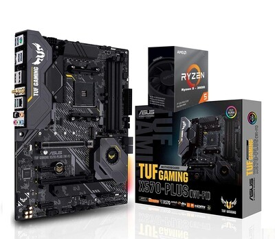 AMD RYZEN 5 3600 6-Core 3.6 GHz (4.2 GHz Max Boost) + Asus TUF Gaming X570-Plus (Wi-Fi) ATX Motherboard Bundle