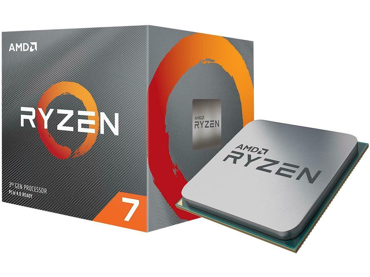 AMD RYZEN 7 3700X 8-Core 3.6 GHz (4.4 GHz Max Boost) Socket AM4 65W Desktop Processor