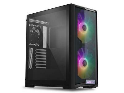 LIAN LI LANCOOL 215 X Black Tempered Glass ATX Case