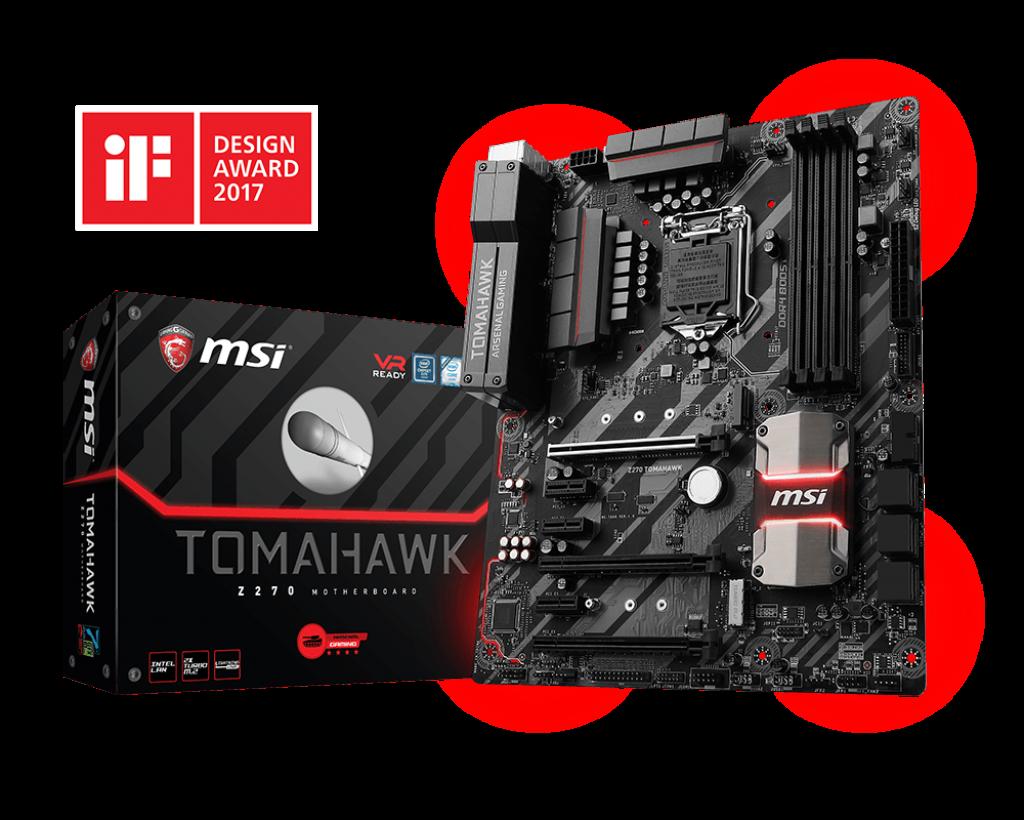 MSI Z270 Tomahawk Motherboard - Supports 7th / 6th Gen Intel® Core™ / Pentium® / Celeron® processors for LGA 1151 socket