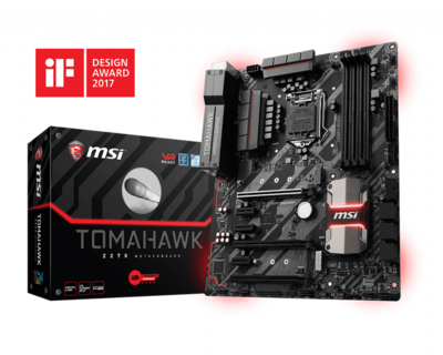 MSI Z270 Tomahawk Motherboard - Supports 7th / 6th Gen Intel® Core™ / Pentium® / Celeron® processors for LGA 1151 socket
