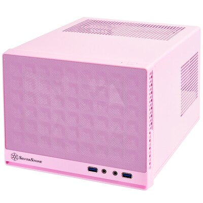 SilverStone Sugo13 Pink Mesh Front Mini ITX Case