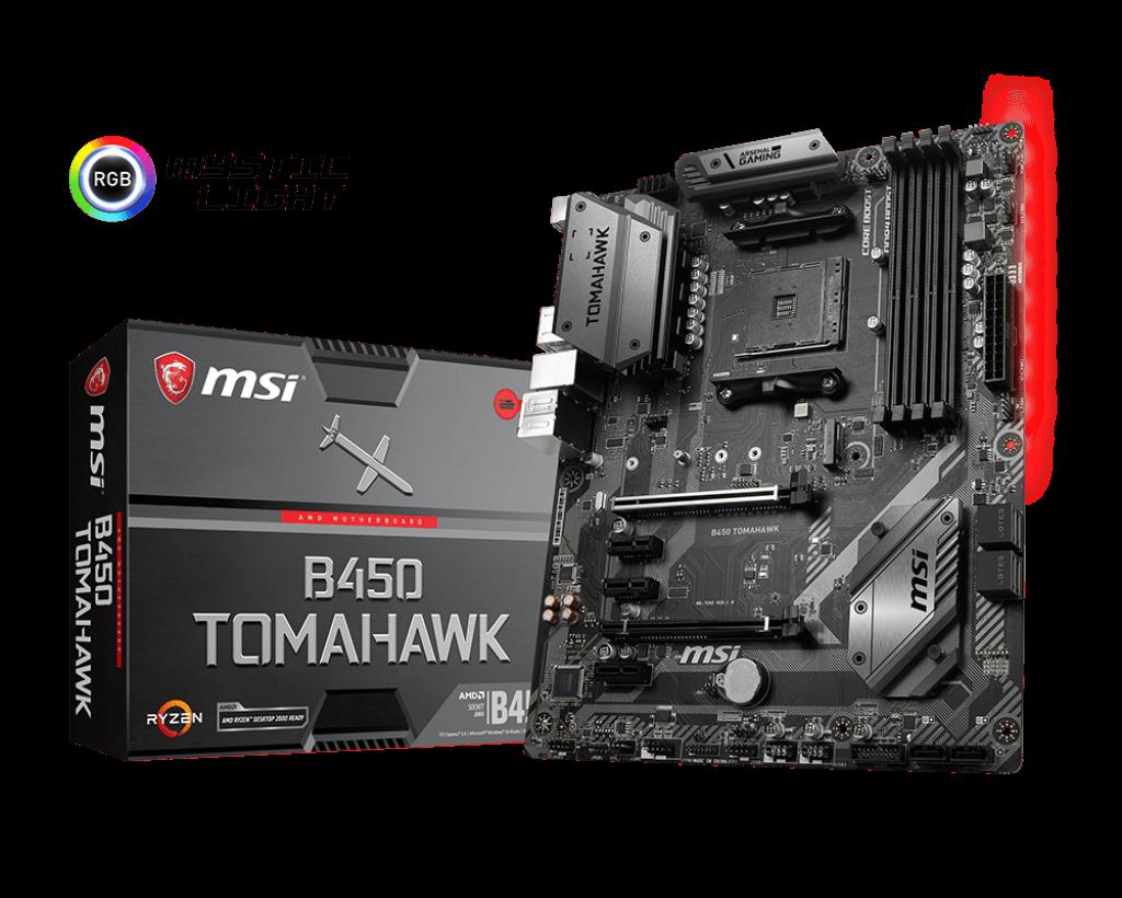 MSI B450 TOMAHAWK ATX AM4 Motherboard