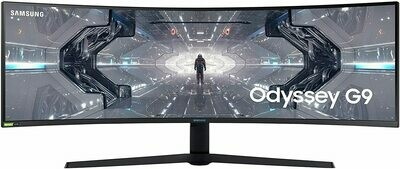 SAMSUNG 49-inch Odyssey G9 Gaming Monitor | QHD, 240hz, Resolution – 5,120 x 1,440, 1000R Curved, QLED, NVIDIA G-SYNC & FreeSync