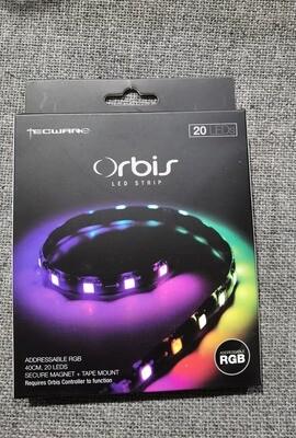 Tecware Orbis Led Strip ARGB 40CM, 20 Leds, Secure Magnet + Tape Mount ( REQUIRES: Orbis Controller to function )